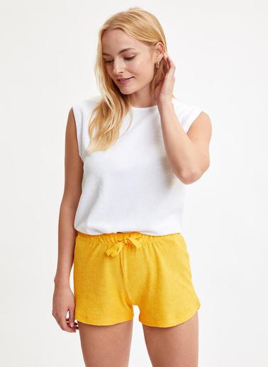 DeFacto Basic Şort Tişört Takım Sarı